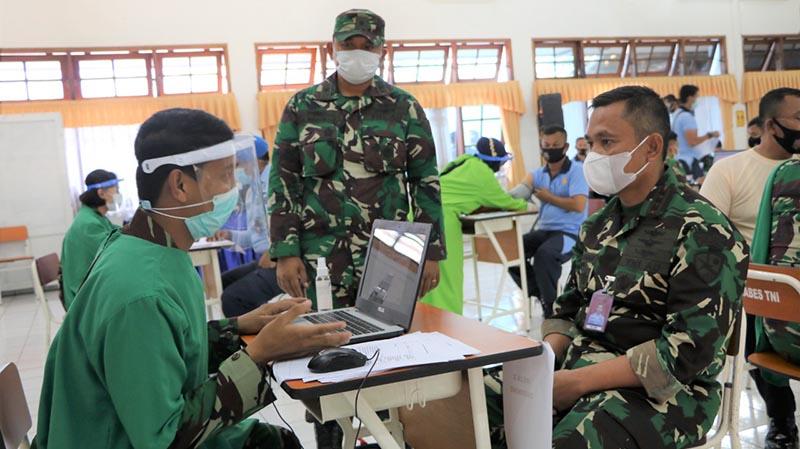 Lanud Husein Sastranegara Dukung Program Pemerintah Mempercepat Penanganan Covid-19