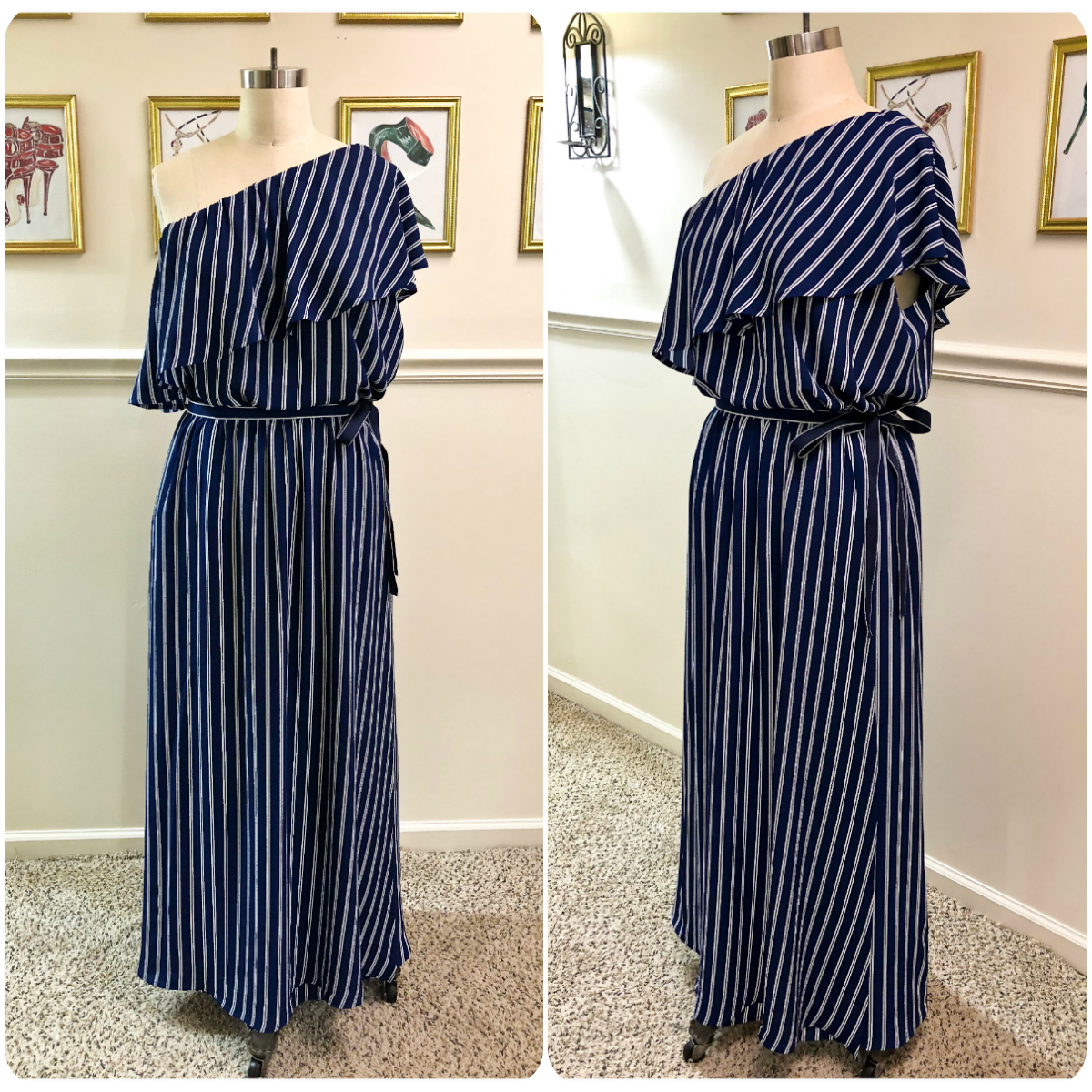 Vogue 9318 - One-Shoulder Top with Matching Maxi Wrap Skirt - Erica Bunker DIY Style!