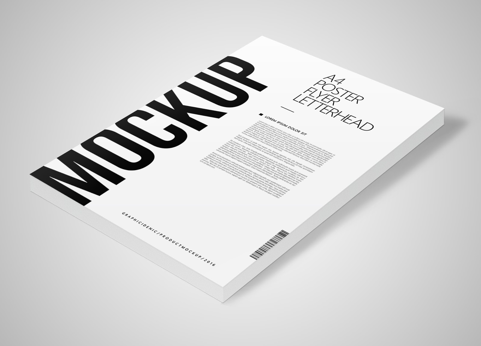 a4 poster flyer letterhead mockup graphic idenic