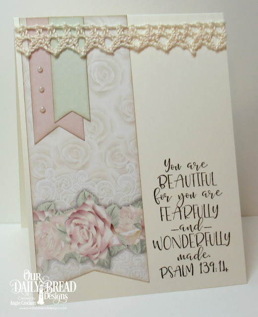 ODBD Today and Everyday, ODBD Romantic Roses Paper Collection, Card Designer Angie Crockett