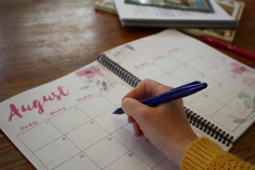 2-page homeschool calendar