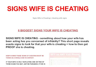 How can you tell if your wife has cheated on you?