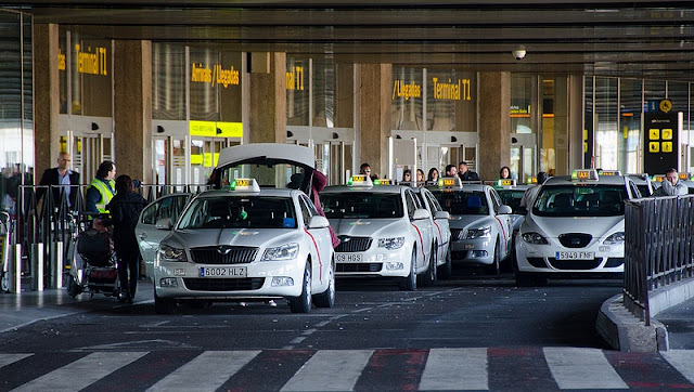 Táxi do aeroporto até o centro de Madri