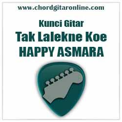Salam balik kanggo kowe      Bm         F Chord TAK LALEKNE KOWE - HAPPY ASMARA (Kunci Gitar Original)