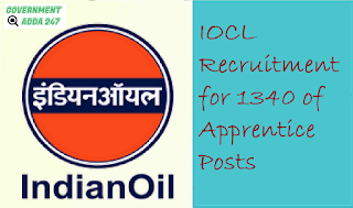 IOCL Recruitment for 1340 of Apprentice Posts