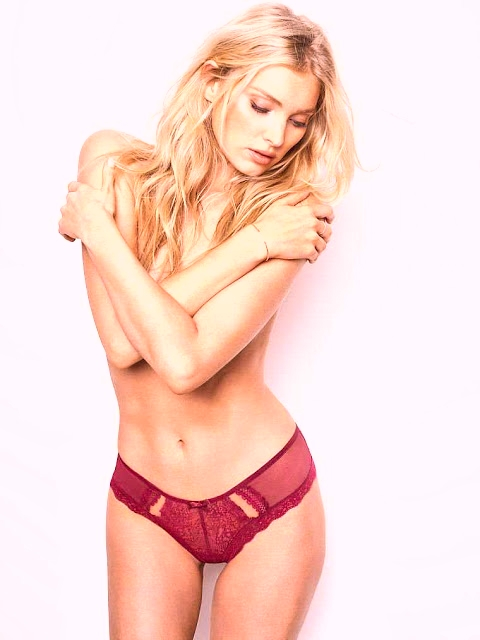 Elsa Hosk strips to lingerie for Victoria's Secret September LatestLookbook