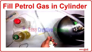 How to fill petrol gas in cylinder