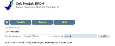 Cek produk BPOM