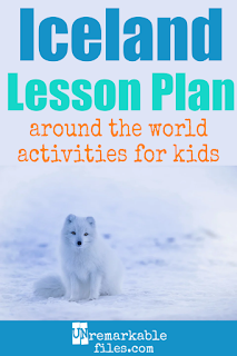 Building the perfect Iceland lesson plan for your students? Are you doing an around-the-world unit in your K-12 social studies classroom? Try these free and fun Iceland activities, crafts, books, and free printables for teachers and educators! #Iceland #lessonplan