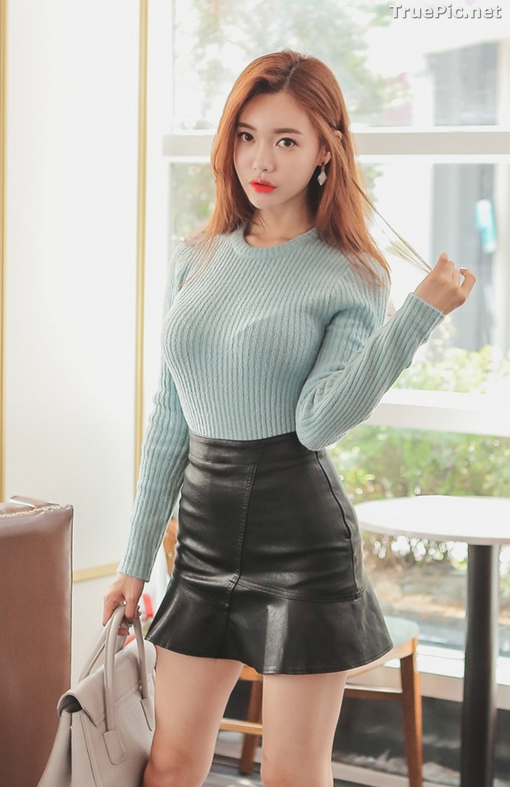 Image Korean Fashion Model – Hyemi – Office Dress Collection #3 - TruePic.net - Picture-1