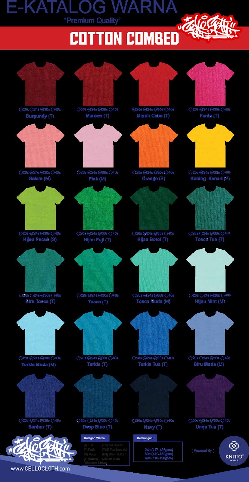 bahan kain, bahan kaos, warna bahan kaosm warna kaos, warna polo, warna kemeja lapangan, warna bahan cardet, warna kain kaos polos, warna kaos sablon, kaos raglan, kaos raglan 3/4, kaos raglan combed, kaos raglan lengan panjang, custom kaos raglan jogja, kaos raglan depan belakang, kaos raglan 2 warna, kaos raglan 3warna, kaos raglan desain sendiri, kaos raglan pola 3 warna, katalog kain, katalog bahan kain, katalog kain combed