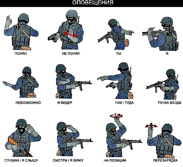 жесты спецназа и их значение картинки короткой
