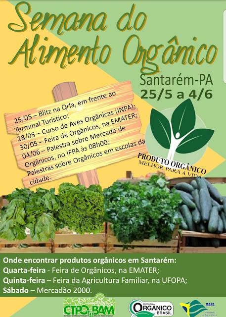 Semana dos Alimentos Orgânicos tem programação até o dia 04 de junho