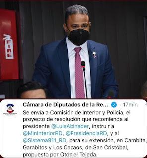 DIPUTADO OTONIEL TEJEDA CONTINUA IMPULSANDO INICIATIVA PARA QUE CAMBITA Y LOS CACAOS TENGAN LOS SERVICIOS DEL 911