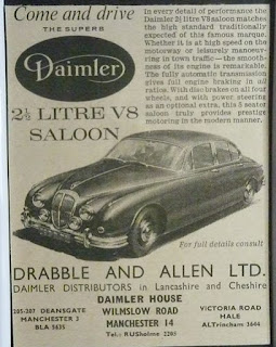 Drabble & Allen Ltd Daimler 2.5 advert