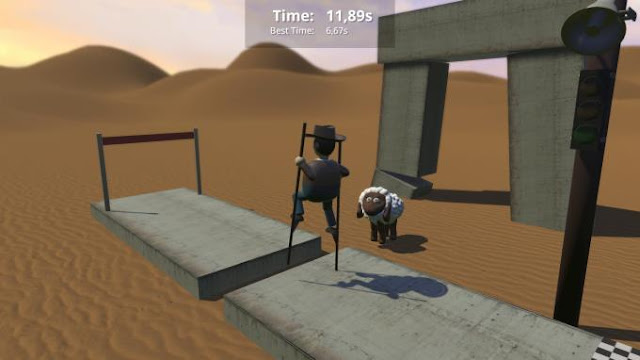 Stilt Fella you will also find many different modes in which you can race obstacles with your friends, just wander around huge locations, and do much, much more.