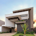 Fachada de casa térrea super imponente com volumetria e estilo contemporâneo!