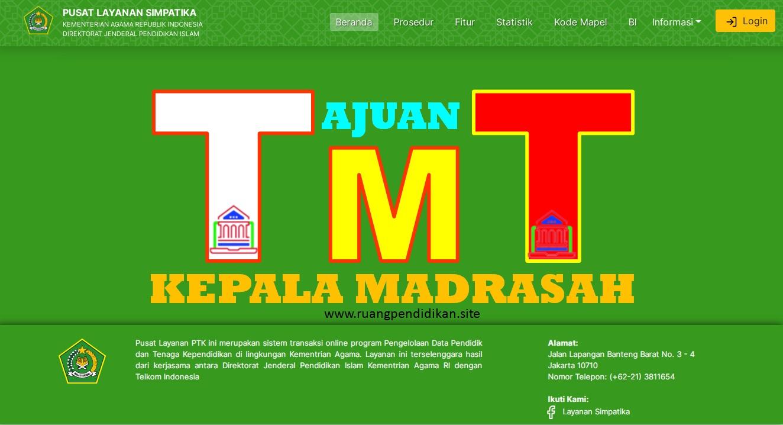 Ajuan Perubahan TMT Kepala Madrasah