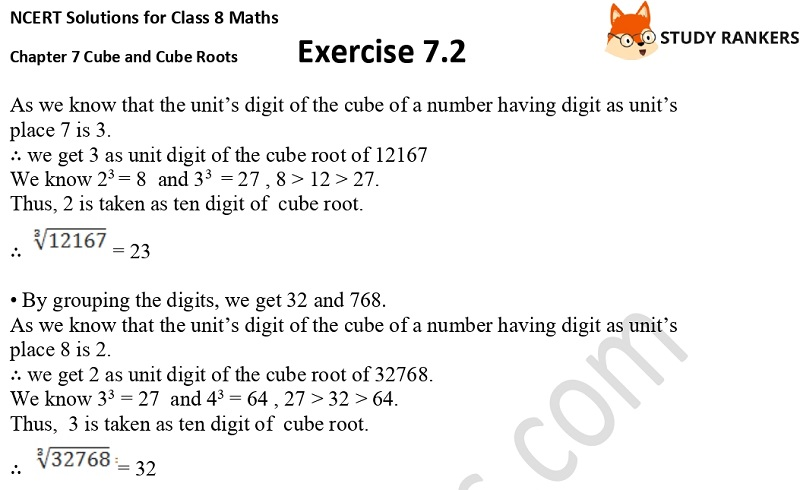NCERT Solutions for Class 8 Maths Ch 7 Cube and Cube Roots Exercise 7.2 5