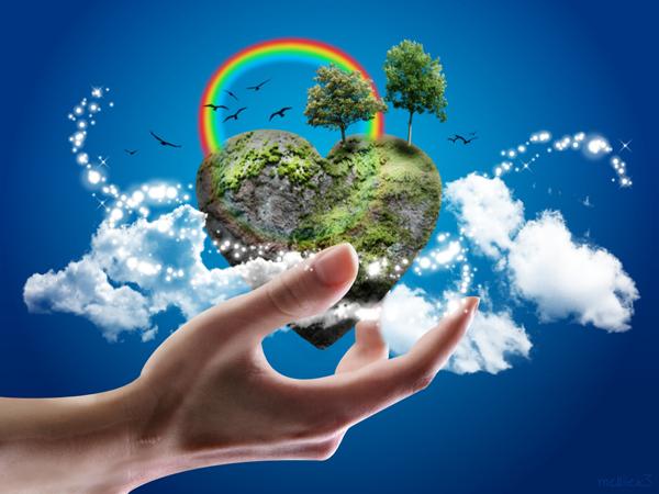 земля в руке