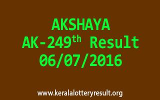 AKSHAYA Lottery AK 249 Results 6-7-2016