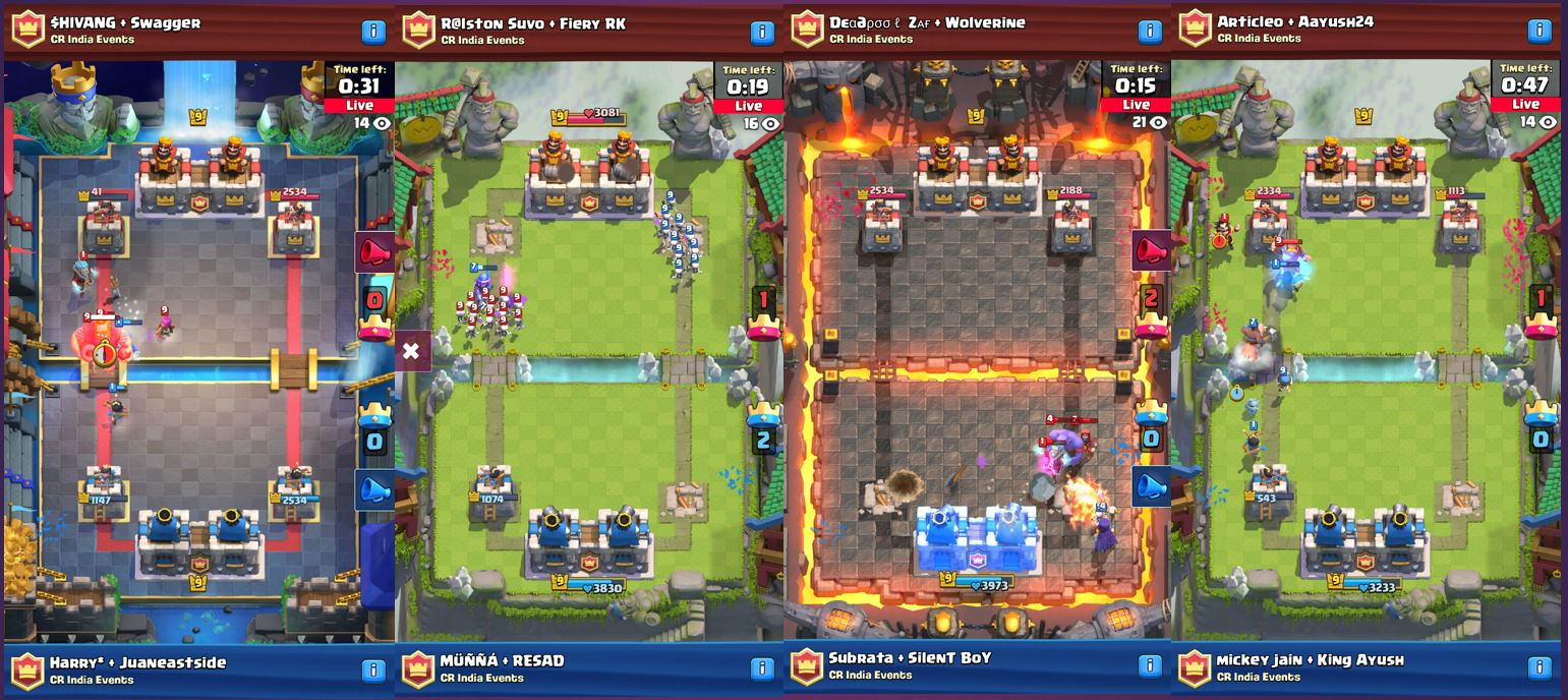 live spectators in clash royale, cr tourneys