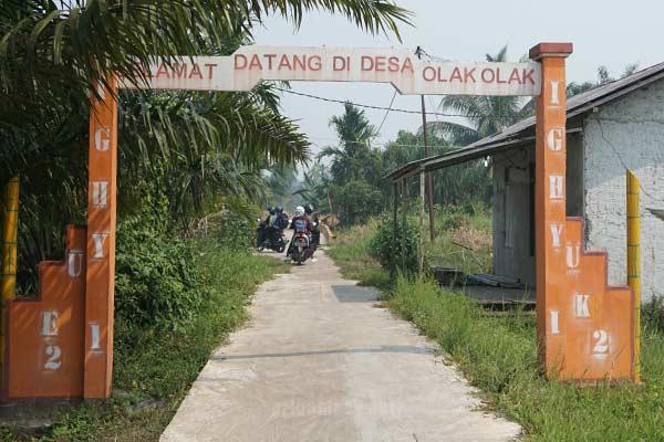 Batas Desa olak-olak kecamatan kubu kabupaten kubu raya