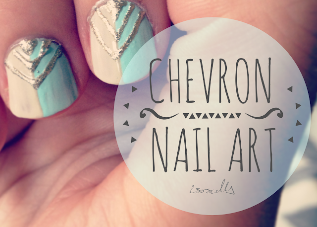 Chevron nail art header