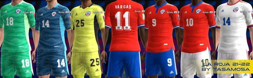 Chile Kits 2021-2022 For PES 2013