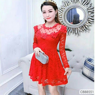 Women's Lace Polyester Short Dresses