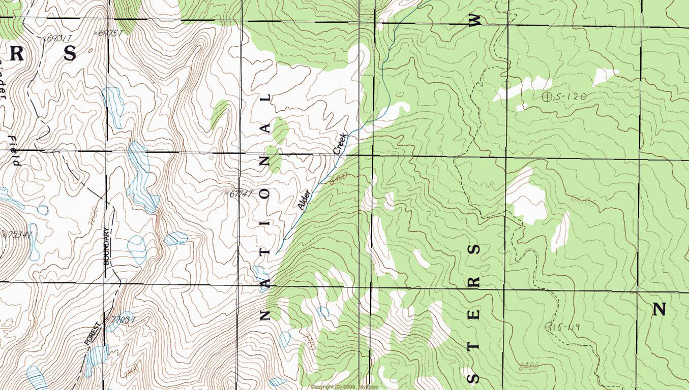 Contour Lines Of A Topographic Map
