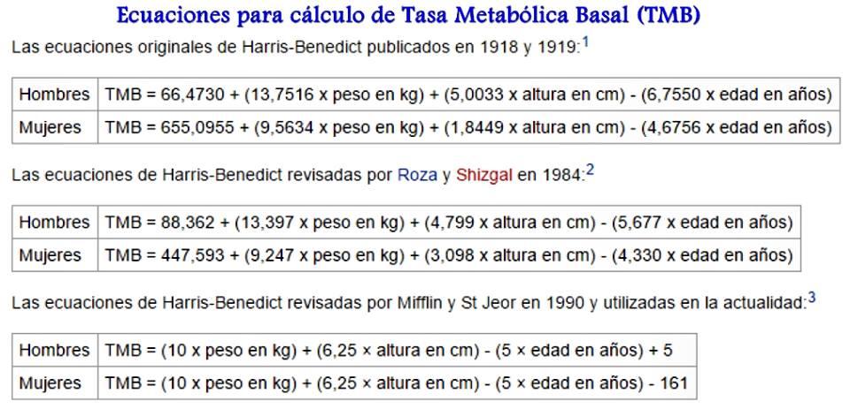 Como calcular peso basal