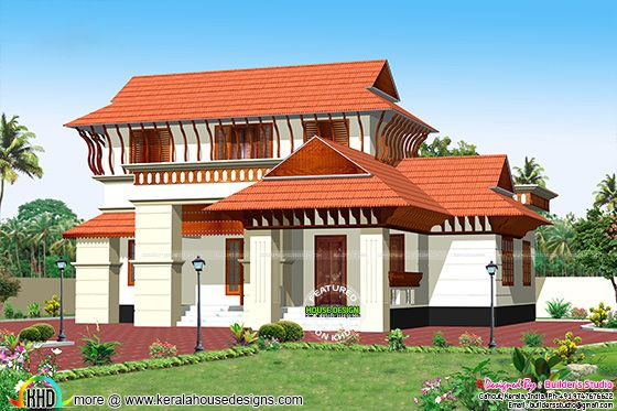 Kerala model house architecture