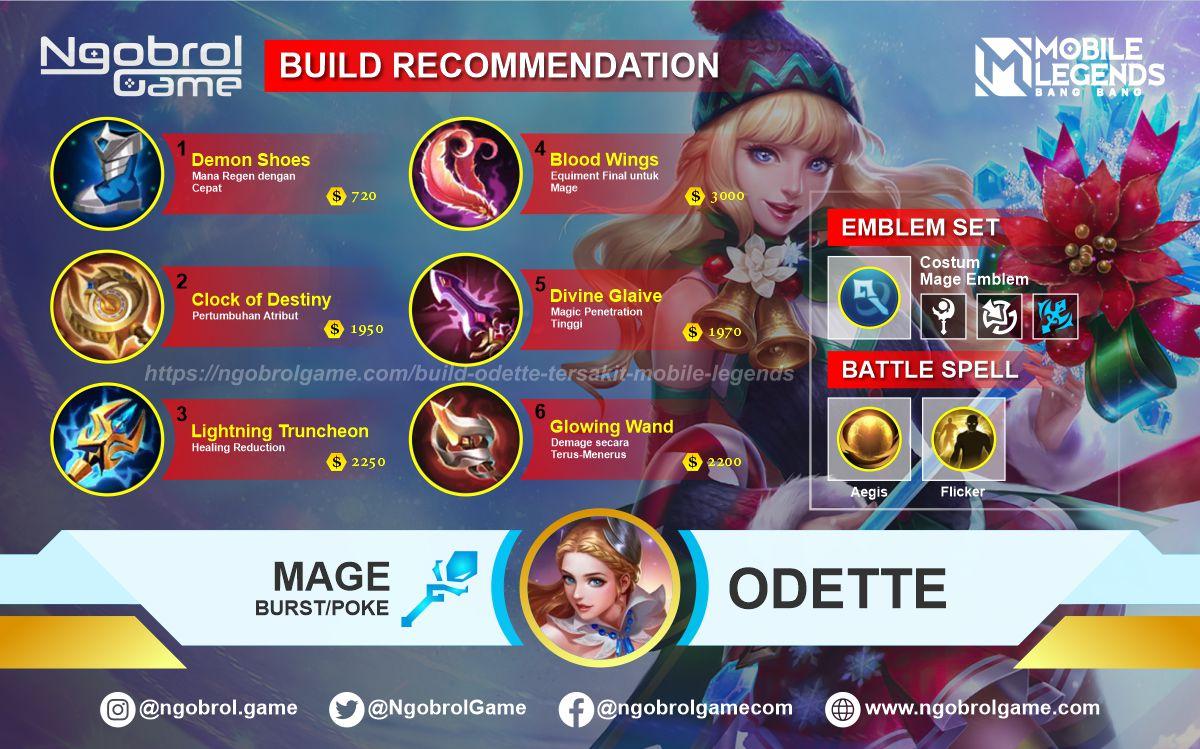 Build Odette Top Global Tersakit Mobile Legends