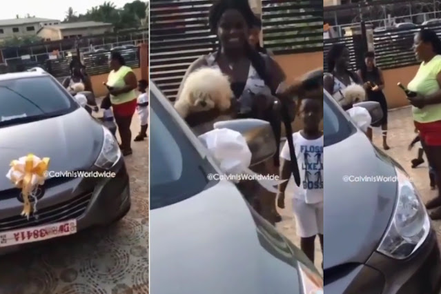 Proud Parents Surprise Daughter With New Car For Passing Her WAEC Examinations (Photos)