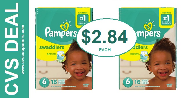 Pampers Diapers P&G Deal Only $2.84 at CVS  526-61