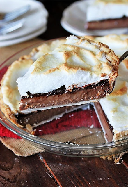 Slice of Nanny's Old-Fashioned Chocolate Pie Image