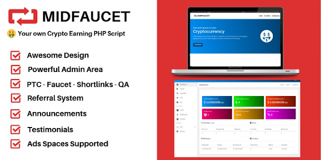 Download MidFaucet - Crypto Earning Faucet PHP Script - nulled