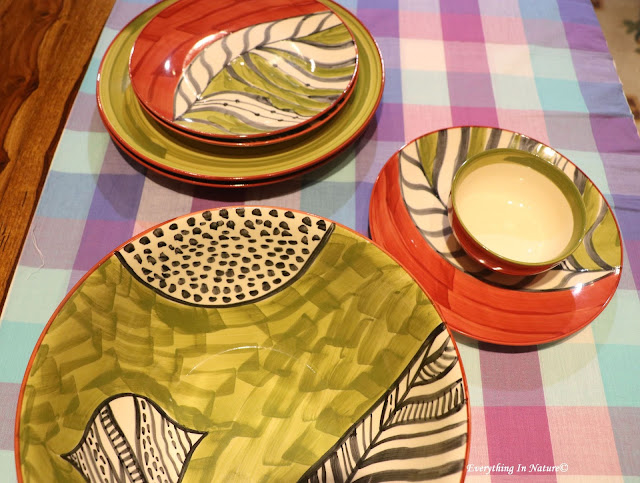 ceramic plate decor- everything in nature
