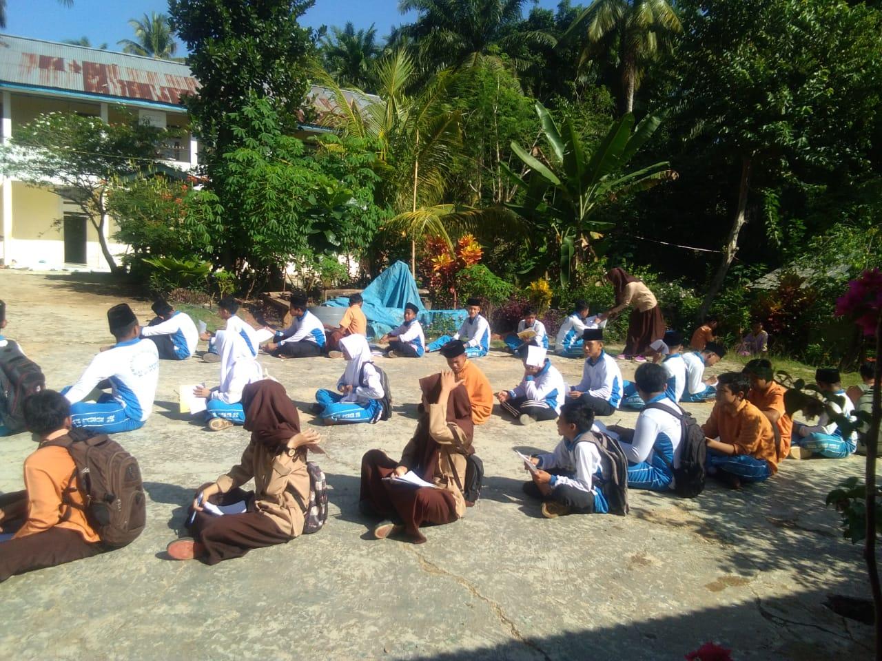 class meeting siswa mts nurul huda dayo tandun rokan hulu