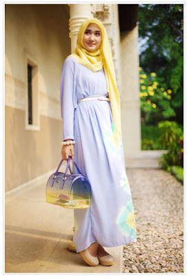 desain fashion hijab untuk orang kurus tinggi