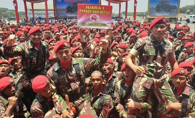 Kopassus Juara Pertama Parade dan Defile Peringatan HUT TNI ke-74