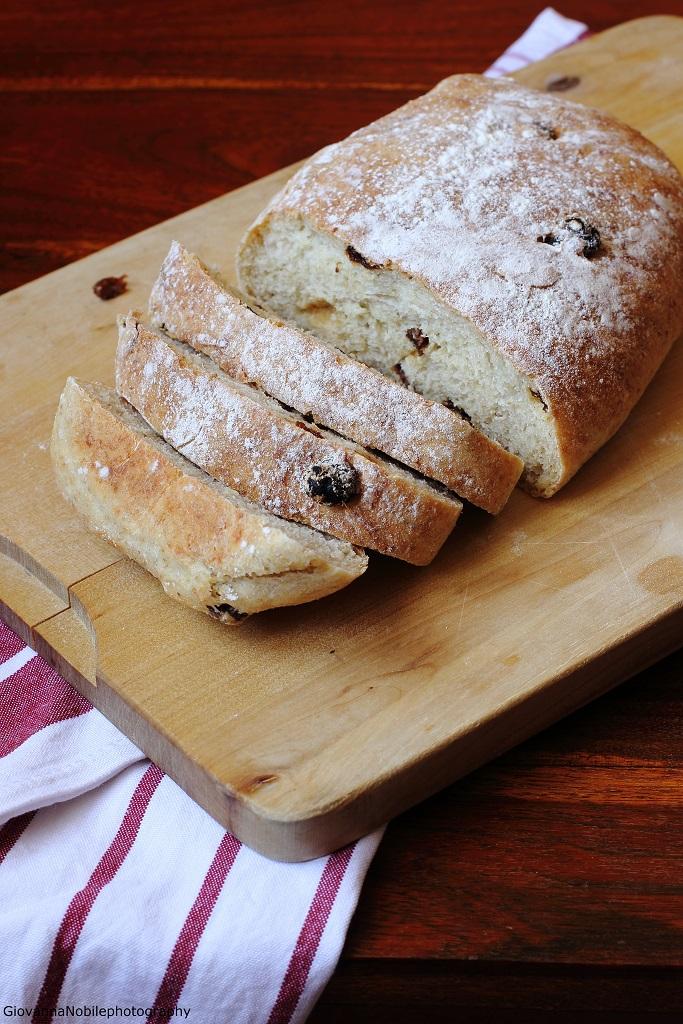 Pagnotte di grano kamut, farina di tipo 1, farina multicereali, germe di grano ed uva passa