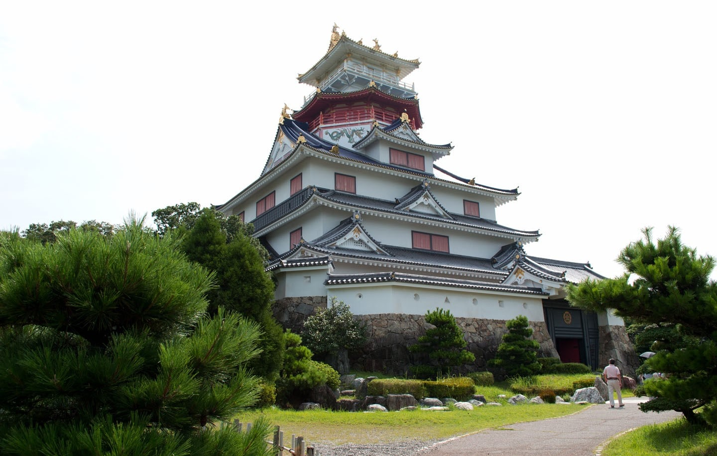 Azuchi Castle from Shiga Prefecture