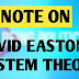 Explanation of David Easton's System Theory And  Input Output Model