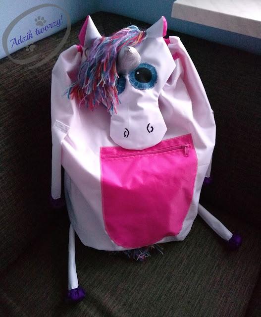 Szycie DIY - plecak jednorożec