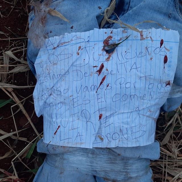 Corpo de adolescente é encontrado no Paraguai sem mãos e com bilhete: 'os justiceiros estão de volta'