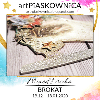 MIXED MEDIA - brokat