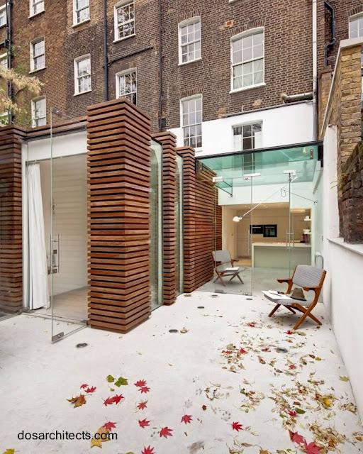 Terraza modernizada en Londres