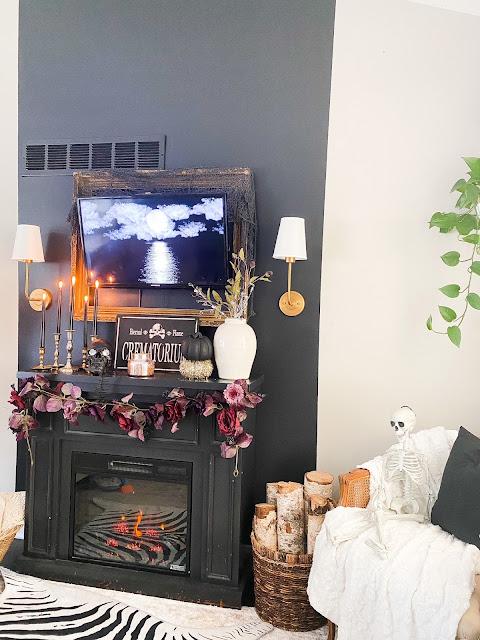 Faux fireplace design